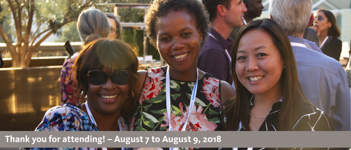 2018 People Management Conference photo of attendees at welcome reception - thank you for attending! - August 7 to August 9, 2018