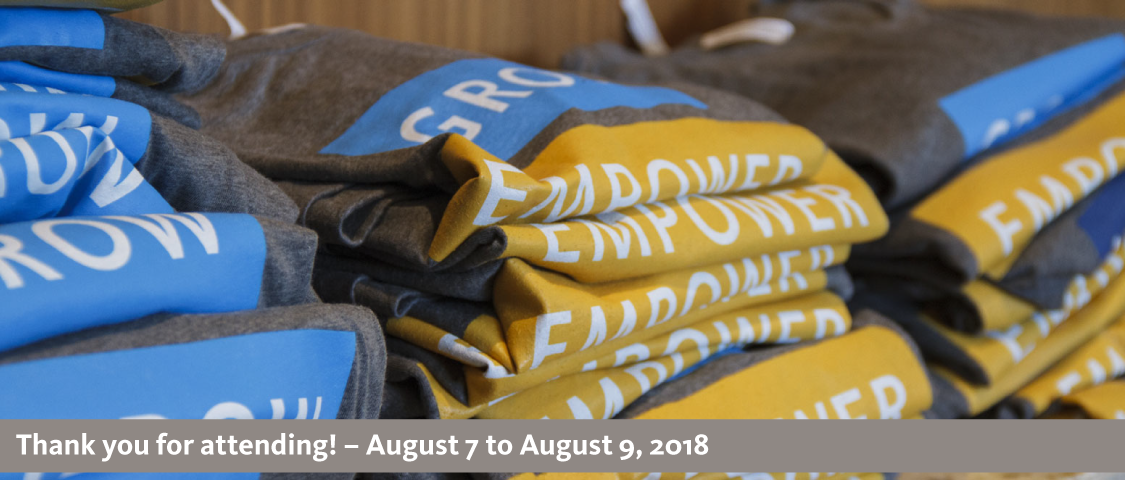 2018 People Management Conference photo of confernece t-shirts - thank you for attending! - August 7 to August 9, 2018
