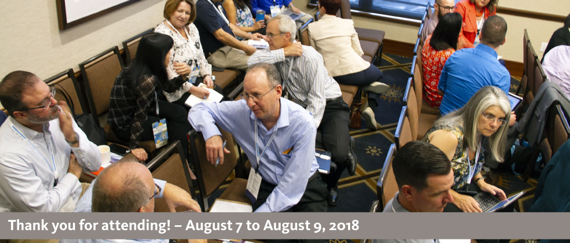 2018 People Management Conference photo of a small group session activity - thank you for attending! - August 7 to August 9, 2018