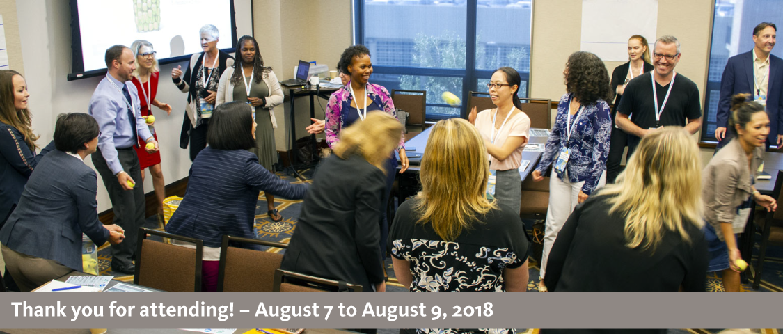 2018 People Management Conference photo of a large group session activity - thank you for attending! - August 7 to August 9, 2018