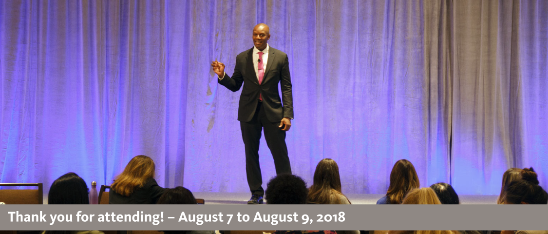 2018 People Management Conference photo of a keynote speaker - thank you for attending! - August 7 to August 9, 2018